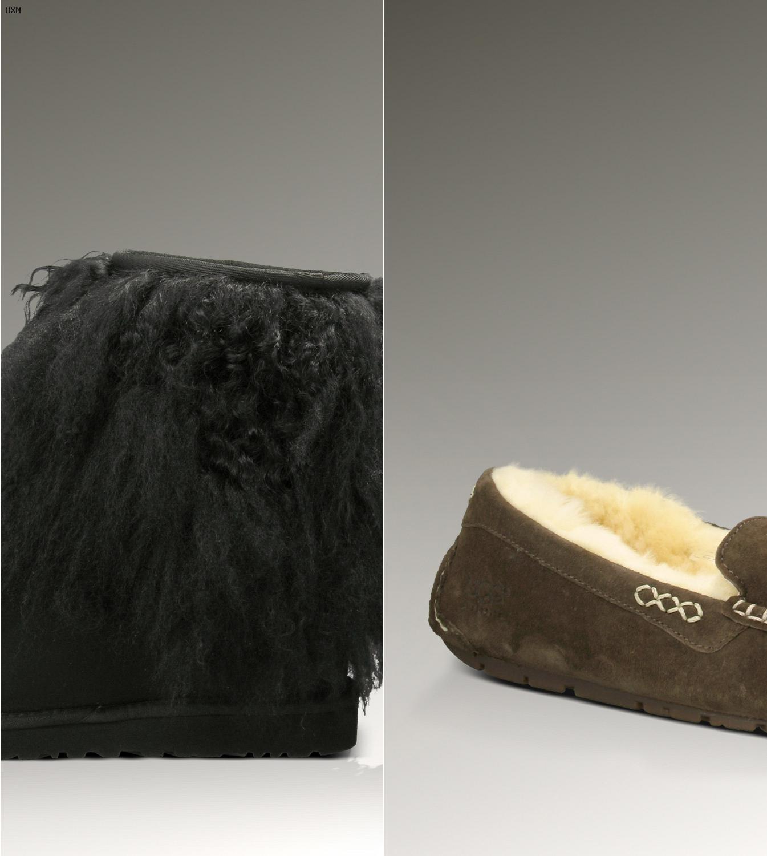 botas tipo ugg negras
